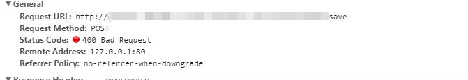 记录一次Status Code:400 Bad Request解决方案及打印错误原因
